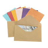 50Pcs Vintage Mini Colored Paper Envelopes for Package Gift Bank Card