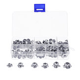 Suleve™ 80Pcs Zinc Plated Steel T-Nut 4 Pronged Tee Blind Insert Nuts Assortment M3/M4/M5/M6/M8