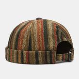 Collrown للجنسين متباين اللون مخطط نمط شخصية عادية بدون حواف قبعة المالك قبعة الجمجمة قبعة