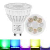 Dimmable GU10 4W Mi Light 2.4G Wireless RGBCCT LED Spot Lightt Lamp Bulb AC86-265V