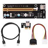 PCI-E Riser بطاقة 1x to 16x USB 3.0 VER 007S 008S 009S Mining Extender Board BTC Expansion بطاقة