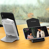 Bakeey Q200 Foldable 15W Qi Wireless Charger Double Coil with Indicator Light Fast Charging Dock Stand for iPhone 12 XR 11