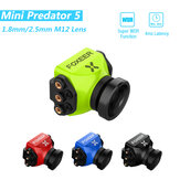 Foxeer Mini Predator 5 Racing FPV Camera 22 * 22mm 1000tvl 1.8mm / 2.5mm M12 4ms Latencja Super WDR