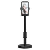 Bakeey Suporte de mesa de telefone rotativo de 360 ° Suporte telescópico para Selfie para YouTube TikTok Live Stream Maquiagem