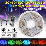 Waterproof USB 5050 RGB LED Strip Light Color Changing Tape Flexible Kitchen Lamp DC5V + 44Keys Remote Control