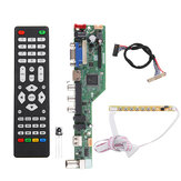 T.SK106A.03 T.SK105A.03 Universal LCD LED TV Controller Driver Board TV/PC/VGA/HDMI/USB+7 Key Button+1ch 6bit 30 LVDS Cable