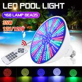 AC12V / 120V E27 35W LED Natación Piscina Luz IP68 RGB Lámpara subacuática + Control remoto