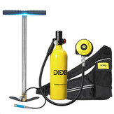 DIDEEP X4000Pro Diving Set with A Air Pump 1L Mini Scuba Diving Oxygen Air Tank Cylinder Oxygen Cylinder Underwater Diving Set W/ Adapter & Storage Bag