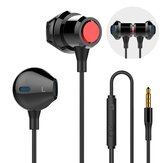 Bakeey Universal Music Headset Half-in-ear Wired Control Earphone with Mic for Mobile Phones