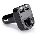 Bluetooth 4.0 Çift Usb Bağlantı Noktaları Arama Elleri Serbest Müzik Çalma Araba Şarj Aleti