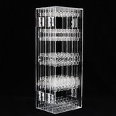 256 Holes Plastic Earring Holder Jewelry Display Stand Necklace Jewelry Show Rack Decorations
