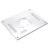 Drillpro 300x235x95mm Aluminum Router Table Insert Plate Woodworking Trimming Machine Flip Panel for Makita 3612