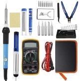 25 In 1 60W Listrik Solder Iron Welding Tool Kit Multimeter Suhu Disesuaikan