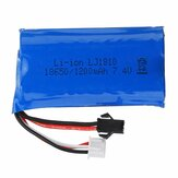 HS 18650 7.4V 1200mAh 25C 2S Li-ion Battery Anti-Reverse Plug for 18301/18302 18311/18312 Rc Car