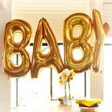 Bóng bay bằng vàng bạc 16/40 inch Mylar Baby Letter Bảng chữ cái trang trí tiệc