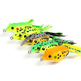 5Pcs/Set 14g 11cm Plastic Soft Dual Hook Frog Lure Artificial Topwater Wobbler Fishing Lure