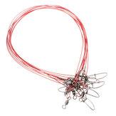 10 Pcs 50 cm Iscas De Pesca Aço Inoxidável 316 Fio Trace Leader Spinner Linha Giratória