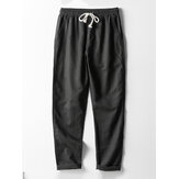Mens Chinese Style Linen Breathable Drawstring Pants