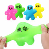 Cute Squeeze Man Squishy Stretchy Doll 10cm Stress Reliever Descomprimir Regalo Decoración Juguete