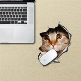 Calcomanías de la estera del gato alfombrilla de ratón para el parachoques ratón pag prueba de agua pegatinas de escritorio del regalo del gato decoración del hogar extraíble
