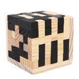 54pcs Holz Magic Intelligence Game 3D Holz Puzzle Rätsel Magic Tetris Cube