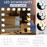 Driekleuren dimbare USB 6/10/14 LED's make-up spiegellamp Kit make-up koplamp dressoirlamp
