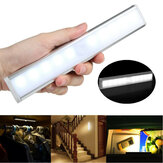 10 LED Motion Датчик Шкаф-купе Беспроводной ночной шкафчик Батарея с питанием в помещении