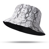 Unisex Snake Pattern Bucket Hat Double-sided Bucket Hat