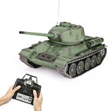 Henglong 3909-1 T-34 1/16 RC Tank RTR 2.4G 320-Degree Rotating Turret with Simulation Sound and Smoke Effect Full Proportion Remote Control