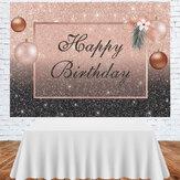 Fondo de fotografía de cumpleaños Rosa Negro Flash Telón de fondo para adultos Mujer Decoraciones de fiesta de cumpleaños Telones de fondo de fotomatón