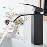Waterfall Black Bathroom Basin Faucet Single Lever Single Hole Hot And Cold Washing Bathroom Tap