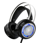 NUBWO N1 LED 50mm Drive Unit Noise Canceling Suspended Head Beam Stereo Gaming Headphone with Mic