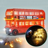 DIY LED Light Lighting Satz NUR für LEGO 10258 London Bus Building Block Bricks Toys