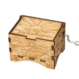 ♫ YOU ARE MY SUNSHINE ♫  Hand Cranked Operated Wood Music Wooden Box Kids Gift