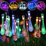 Solar Powered Outdoor 50 LED Droplet Fairy String Light Wedding Christmas Party Home Decor Lamp DC3V
