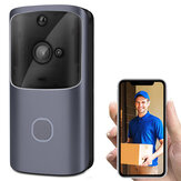 Bakeey M10 720P 166° Wide View Two-way Audio Smart WIFI Video Doorbell Smart Home PIR Alarm Monitor