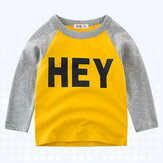 Boys Children Printed Long Sleeve T-Shirts For 3Y-12Y