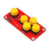 3 adet AD Analog Klavye Modülü Elektronik Yapı Taşları Arduino için 5 Tuşlar DIY Geekcreit-resmi Arduino panoları ile çalışan ürünler