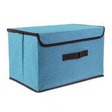 折りたたみ式布収納ボックスオーガナイザー防塵カバー付き多目的衣類および雑貨オーガナイザー衣類本おもちゃ用