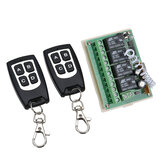 Geekcreit® 12V 4CH Channel 433Mhz Wireless Remote Control Switch Dengan 2 Transmitter
