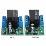 DR25E01 DC 5V 9V 12V 24V 3-5A Flip-Flop Latch DPDT Relay Module Bistable Self-locking Switch Low Pulse Trigger Board for Motor LED PLC