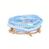 Czeska bransoletka pozostawia łańcuszek wielowarstwowe koraliki bransoletki dla kobiet
