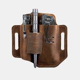 メンズ本革EDCベルトループウエストマルチツールシースベルトバッグ