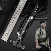 HX OUTDOORS 9-in-1 Mini EDC Multi Tool Folding Knife Screwdriver Pliers Bottle Opener Broken Hammer for Camping Travel From Xiaomi Youpin