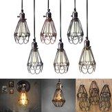 Epoca ciondolo guai luce guardia lampadina gabbia soffitto appeso apparecchio paralume per l'illuminazione di interni