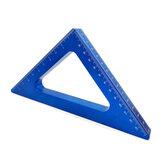 Алюминиевый сплав Угловая линейка 45 градусов дюймов Метрическая треугольная линейка Столярная мастерская Деревообработка Измерение пло