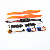 XXD 2217 KV1100 Brushless Motor+1060 Propeller*2+9g Servo*2+40A ESC RC Power System Combo for RC Drone Airplane