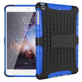 Heavy Duty Anti Custodia in pelle TPU Hybrid PC Case per iPad Mini 1/2/3