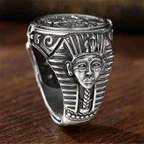 Ny Vintage Horus Anubis Wanderer Ring