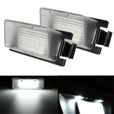 Pair 18LED Number License Plate Light Lamp Bulb White For Nissan Infiniti G37 G35